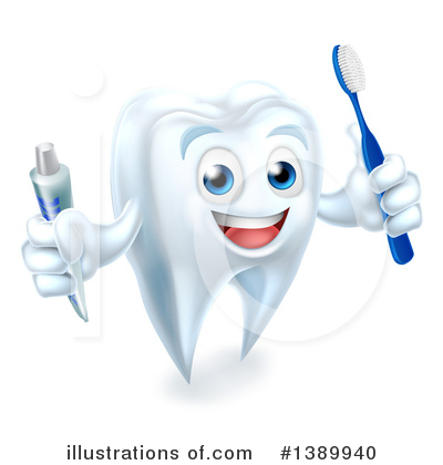 Royalty-Free (RF) Tooth Clipart Illustration by AtStockIllustration - Stock Sample #1389940