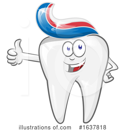 Royalty-Free (RF) Tooth Clipart Illustration by Domenico Condello - Stock Sample #1637818