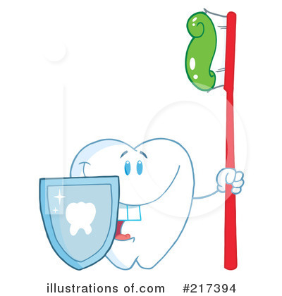 Tooth Character Clipart #217394 by Hit Toon
