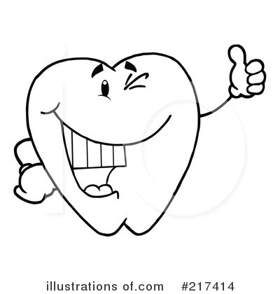 Tooth Character Clipart #217414 by Hit Toon