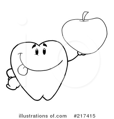 Tooth Character Clipart #217415 by Hit Toon