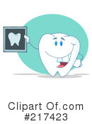 Royalty-Free (RF) Tooth Clipart Illustration #217423