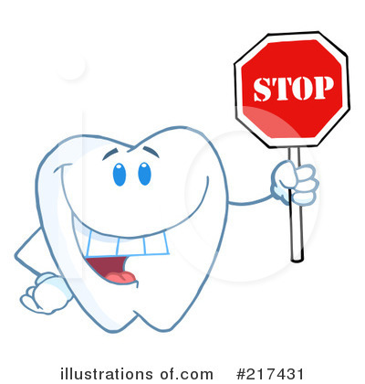 Tooth Character Clipart #217431 by Hit Toon