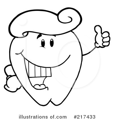 Tooth Character Clipart #217433 by Hit Toon