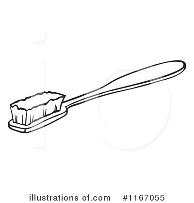 Toothbrush Clipart #1167055 - Illustration by colematt
