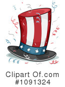 Royalty-Free (RF) Top Hat Clipart Illustration #1091324