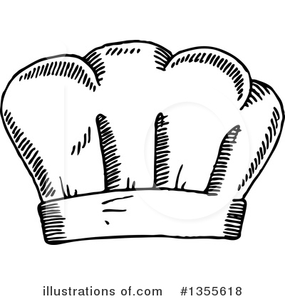 Chef Hat Clipart #1355618 by Vector Tradition SM