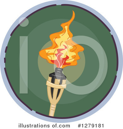 Tiki Torch Clipart #1279181 by BNP Design Studio