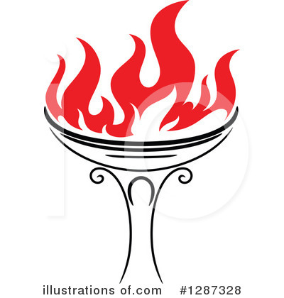 Royalty-Free (RF) Torch Clipart Illustration by Vector Tradition SM - Stock Sample #1287328