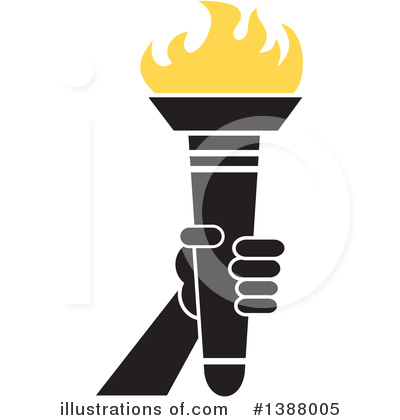 Torch Clipart #1388005 by Johnny Sajem