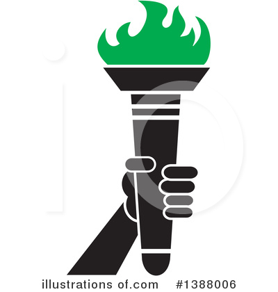 Torch Clipart #1388006 by Johnny Sajem
