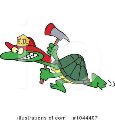 Turtle Clipart #1044407 by toonaday