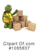 Royalty-Free (RF) tortoise Clipart Illustration #1065837