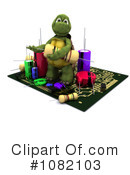 Royalty-Free (RF) Tortoise Clipart Illustration #1082103