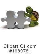 Royalty-Free (RF) Tortoise Clipart Illustration #1089781