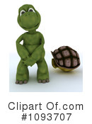 Royalty-Free (RF) Tortoise Clipart Illustration #1093707
