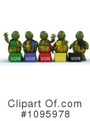 Royalty-Free (RF) Tortoise Clipart Illustration #1095978