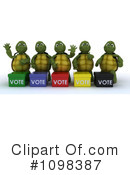 Royalty-Free (RF) tortoise Clipart Illustration #1098387