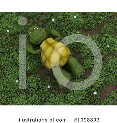 Royalty-Free (RF) Tortoise Clipart Illustration by KJ Pargeter - Stock Sample #1098393