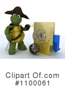 Royalty-Free (RF) Tortoise Clipart Illustration #1100061