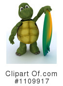 Royalty-Free (RF) Tortoise Clipart Illustration #1109917