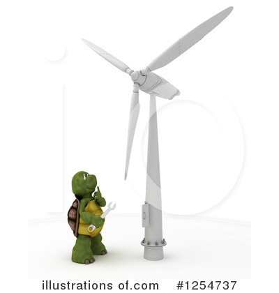 Wind Turbine Clipart #1254737 by KJ Pargeter