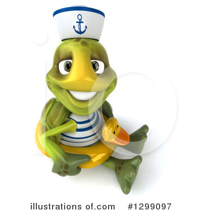 Tortoise Sailor Clipart #1299097 by Julos