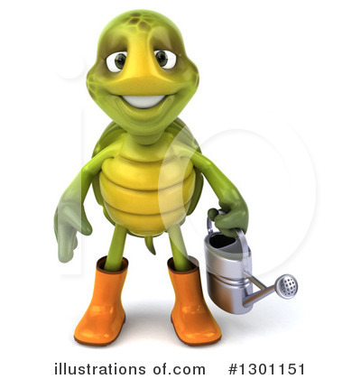 Royalty-Free (RF) Tortoise Clipart Illustration by Julos - Stock Sample #1301151