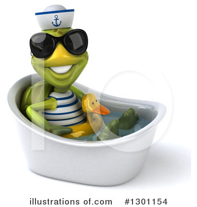 Tortoise Sailor Clipart #1301154 by Julos