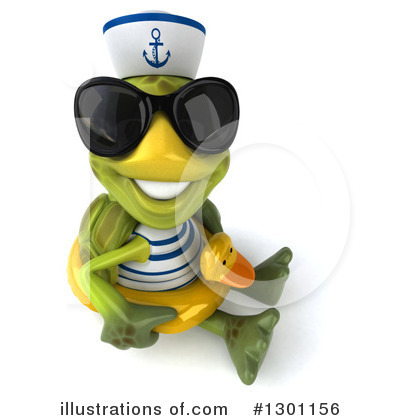 Tortoise Sailor Clipart #1301156 by Julos