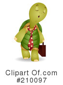 Royalty-Free (RF) Tortoise Clipart Illustration #210097