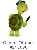 Royalty-Free (RF) Tortoise Clipart Illustration #210098