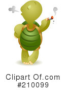 Royalty-Free (RF) Tortoise Clipart Illustration #210099