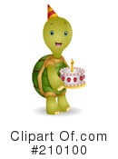 Royalty-Free (RF) Tortoise Clipart Illustration #210100