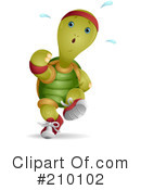Royalty-Free (RF) Tortoise Clipart Illustration #210102