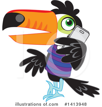 Royalty-Free (RF) Toucan Clipart Illustration by Rosie Piter - Stock Sample #1413948