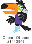 Royalty-Free (RF) Toucan Clipart Illustration #1413948