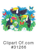 Royalty-Free (RF) Toucan Clipart Illustration #31266