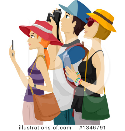 Tourists Clipart #1346791 by BNP Design Studio