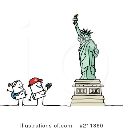 Royalty-Free (RF) Tourists Clipart Illustration by NL shop - Stock Sample #211860