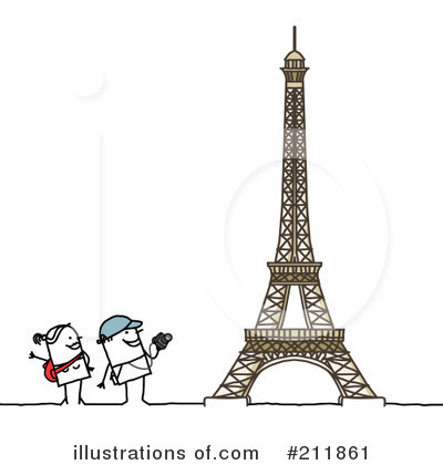 Royalty-Free (RF) Tourists Clipart Illustration by NL shop - Stock Sample #211861