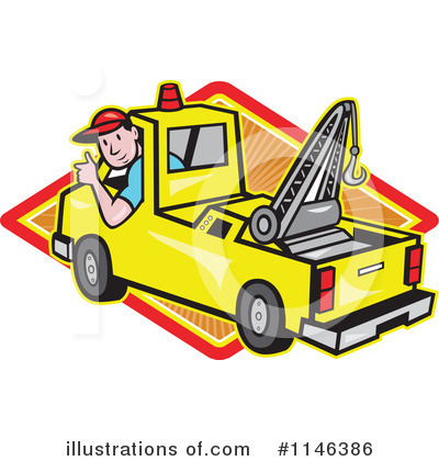 Towing Clipart #1146386 by patrimonio