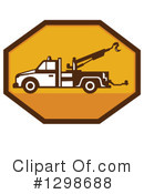 Tow Truck Clipart #1298688 by patrimonio