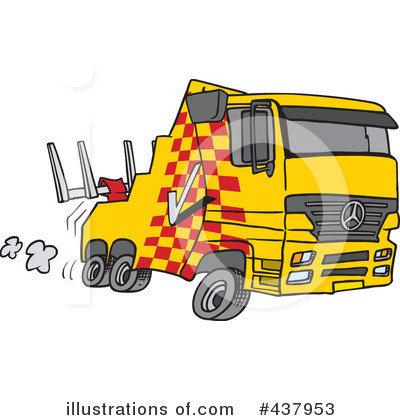 Tow Truck Clipart #437953 by toonaday