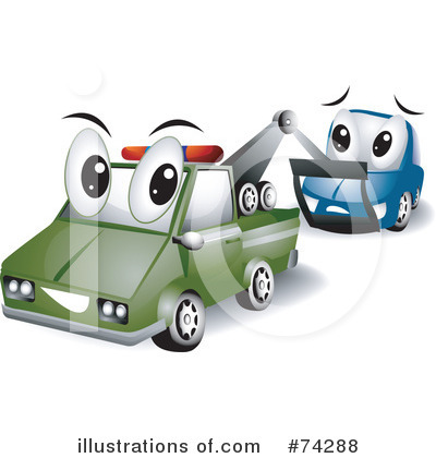 Tow Truck Clipart #74288 by BNP Design Studio