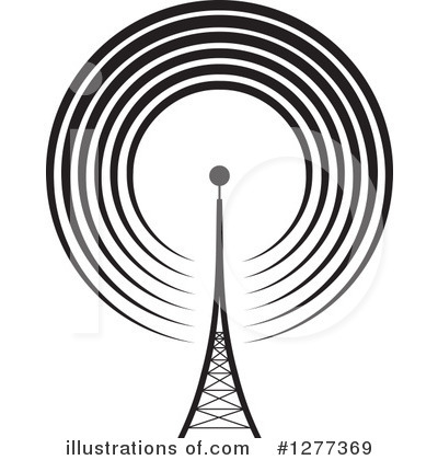 Communications Tower Clipart #1277369 by Lal Perera