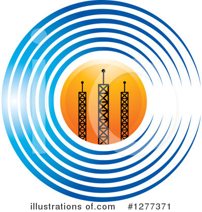 Communications Tower Clipart #1277371 by Lal Perera
