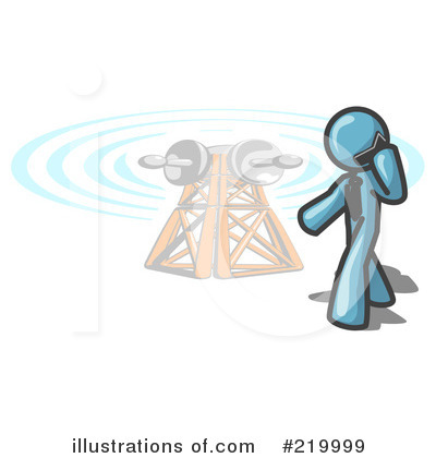 Communications Tower Clipart #219999 by Leo Blanchette