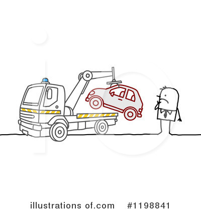 Tow Truck Clipart #1198841 by NL shop