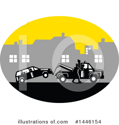 Towing Clipart #1446154 by patrimonio